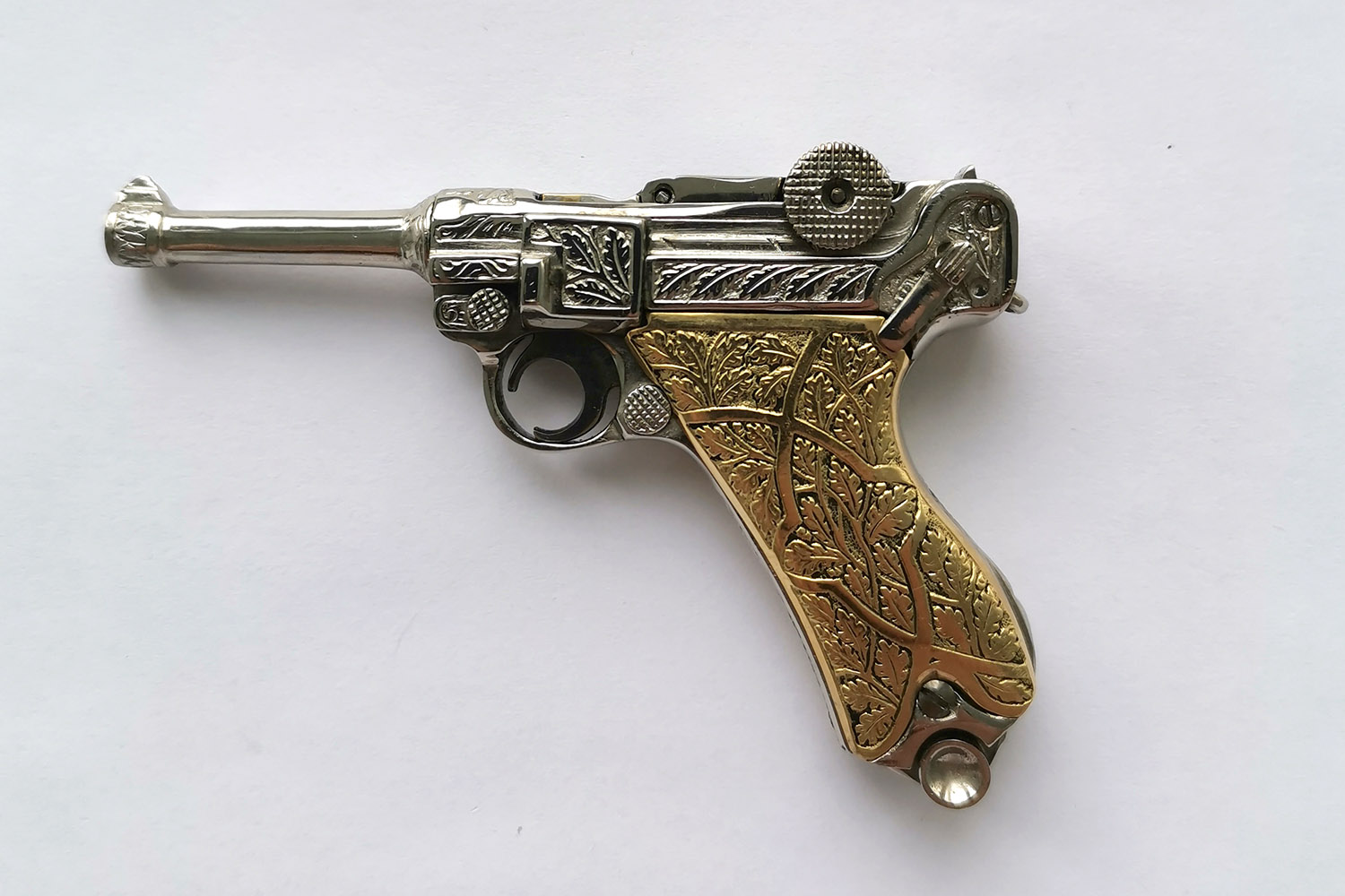 2,5mm Luger P08 with engraving