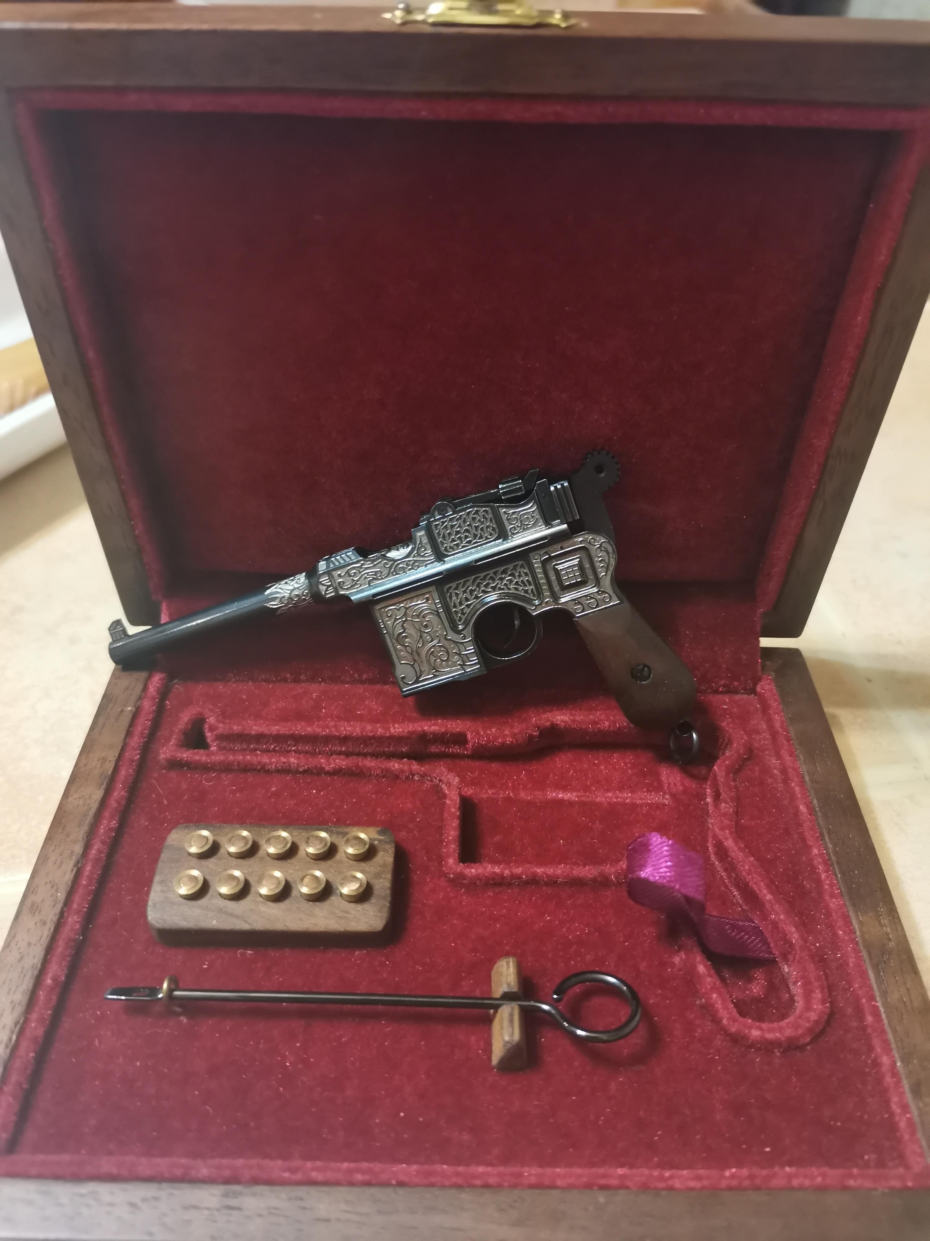 3mm Mauser C96 platinum coating