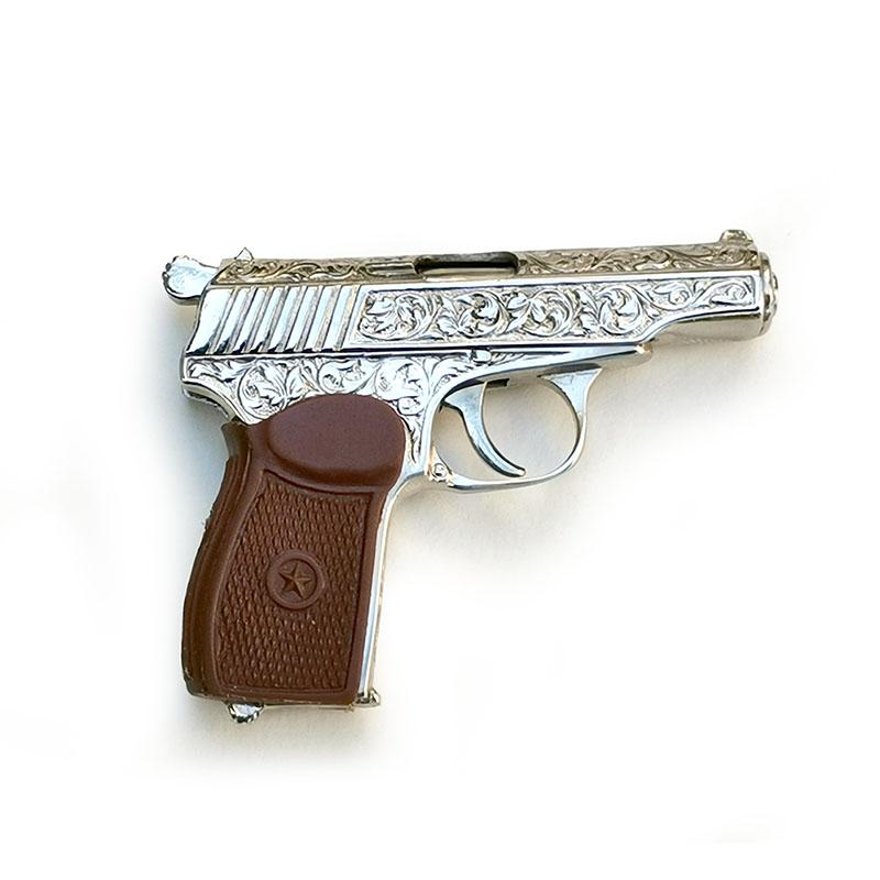 Makarov pistol engraved
